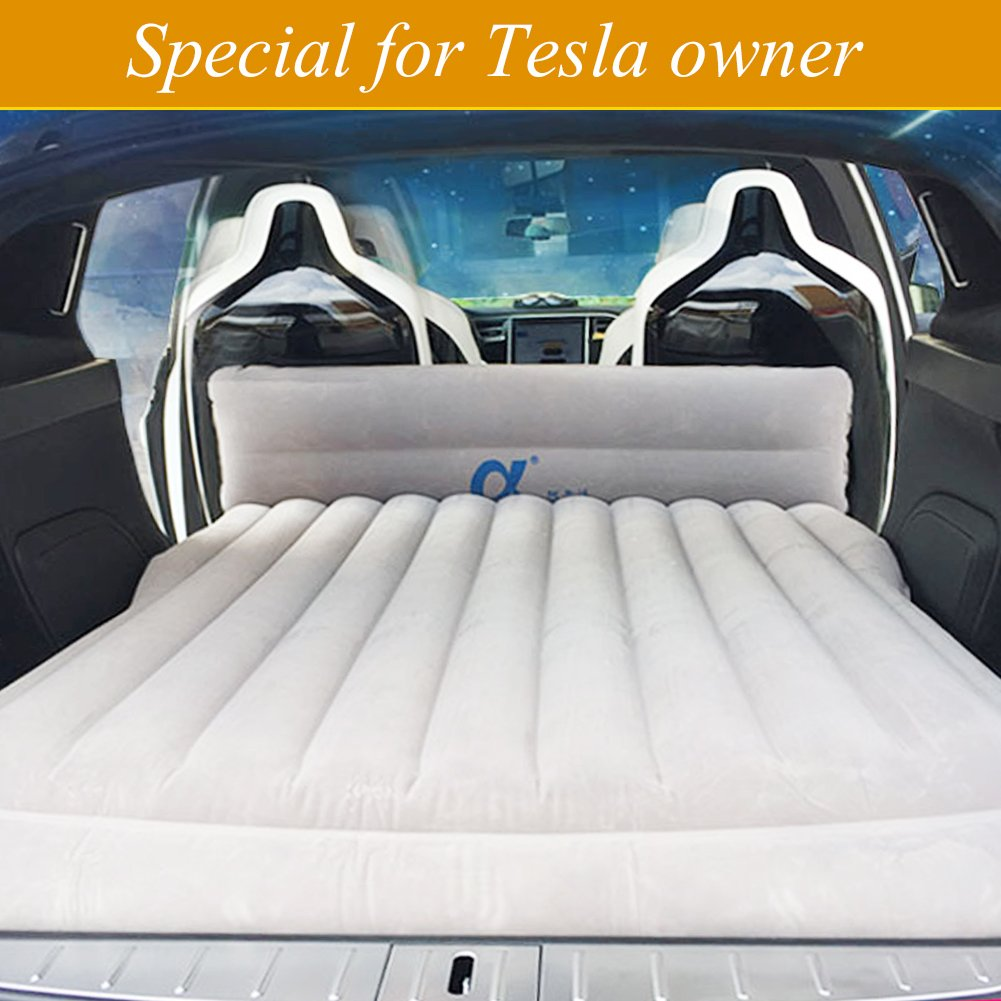 topfit Car Camping Air Bed Car Travel Inflatable Mattress Vehicle Mount SUV Seat for Model X with 6 seaters