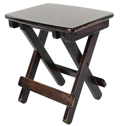 Astounding Amazon Com Aufee Folding Chair Bamboo Folding Stool 32 5 Uwap Interior Chair Design Uwaporg