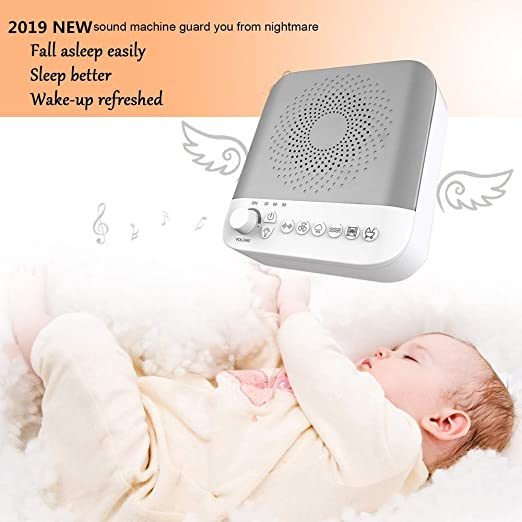Amazon.com: White Noise Machine, Sleep Sound Machine, 17 Soothing Sounds&Adjustable Nightlight, Relaxing Sleep Therapy for Adults & Baby, Ideal for Tinnitus ...