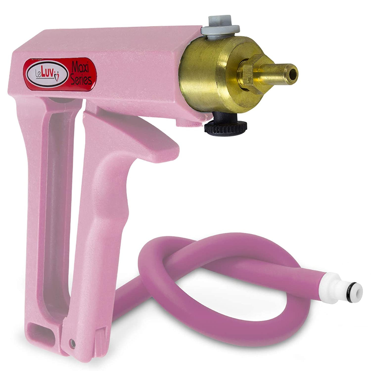 LeLuv Vacuum Pump Purple Maxi Ergonomic Handle with Release Valve with Matching Premium Silicone Hose and Fitting