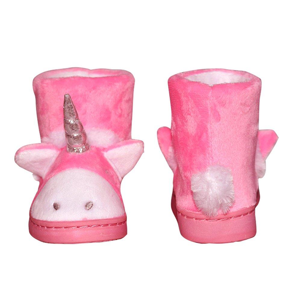 Amazon.com | LA PLAGE Boys Girls Winter Warm Plush Comfy Cute Cartoon Bedroom Bootie Slippers(Toddler/Little Kid) | Slippers