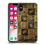 Official HBO Game of Thrones All Houses Golden Sigils Hard Back Case for iPhone X/iPhone XS