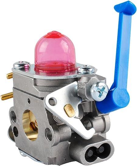 Wadoy 128 CD 128LD carburador Carb Kit con filtro de combustible imprimación bombilla combustible línea juntas para Husqvarna 545081848 128 C 128L 128LDX ei128r Zama c1q-w40 a Trimmer Desbrozadora: Amazon.es: Jardín