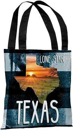 Lone Star Texas Polyester Tote Bag44; Multi Color One Bella Casa 73660TT18P 18 in