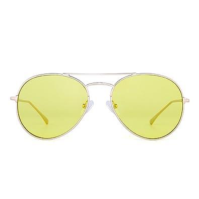 Amazon.com: Transparente Aviator anteojos de sol Classic ...