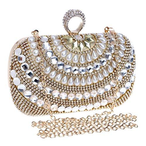 Argento Fly Mini Clutch tracolla Bag Borsa da sera Crossbody Dinner Moda Borsa Oro Pearl Colore sposa Banchetto Abito da da sera HwqInfrHx
