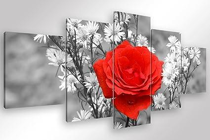 Degona quadro moderno rosa rossa pz cm stampa su tela