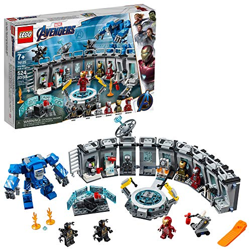 LEGO Marvel Avengers Iron Man Hall of Armor 76125 Building Kit, New 2019 (524 - Figure 9 Set Piece