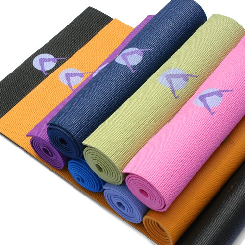 "Aurorae Classic Extra Thick 1/4"" and Long 72"" Premium Eco Safe Yoga Mat with Non Slip Rosin included"