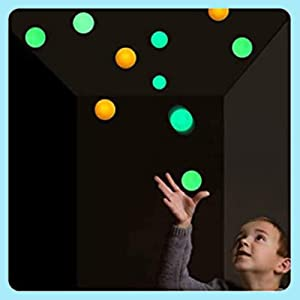Yagood Glow in The Dark Sticky Ceiling Balls, 8Pcs Squishy Figit Sensory Stress Toys, Stick to The Wall and Slowly Fall Off for ADHD, OCD, Anxiety Stress Relief Kids Adults Fun Toys (8pcs)