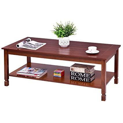 Amazon.com: Wooden Coffee Table,BestComfort Modern Center ...
