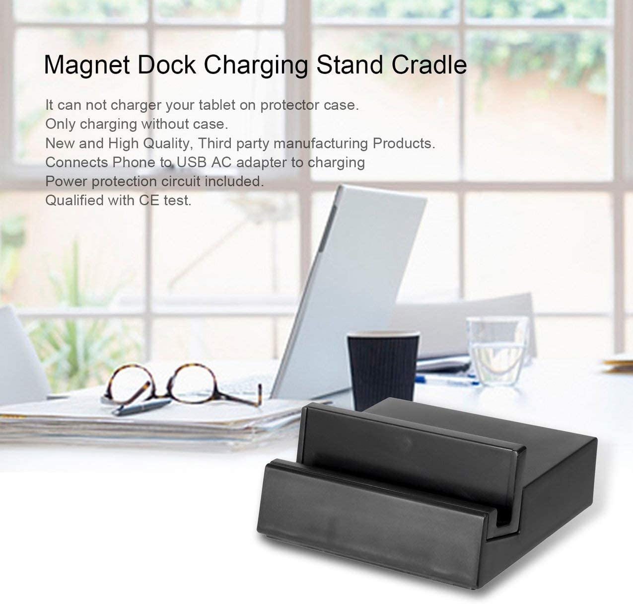 nero DK39 Magnetic Charging Dock Stand Base di ricarica per caricabatterie Desktop per Sony SGP521 SGP541 SGP551 Xperia Z2 Tablet Magnet DK39 Dock Base di ricarica per ricarica