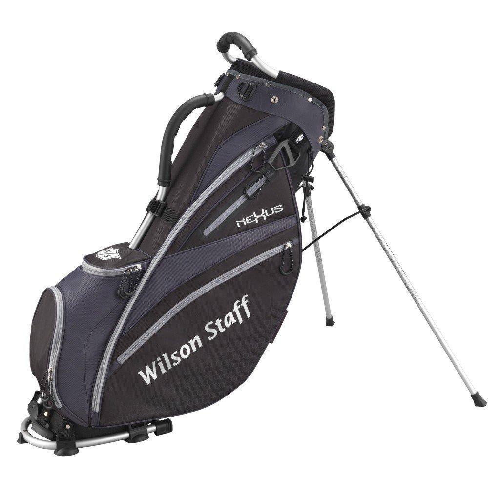 Wilson Staff Transporte con Correas y Soporte, Bolsa de Golf con 6 Compartimentos, Nexus, Hombre