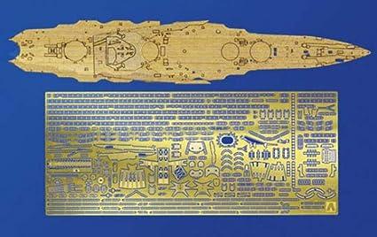 for the Aoshima kit AOS04609 1:700 Aoshima Yamashiro Wood Deck /& PE Detail Set