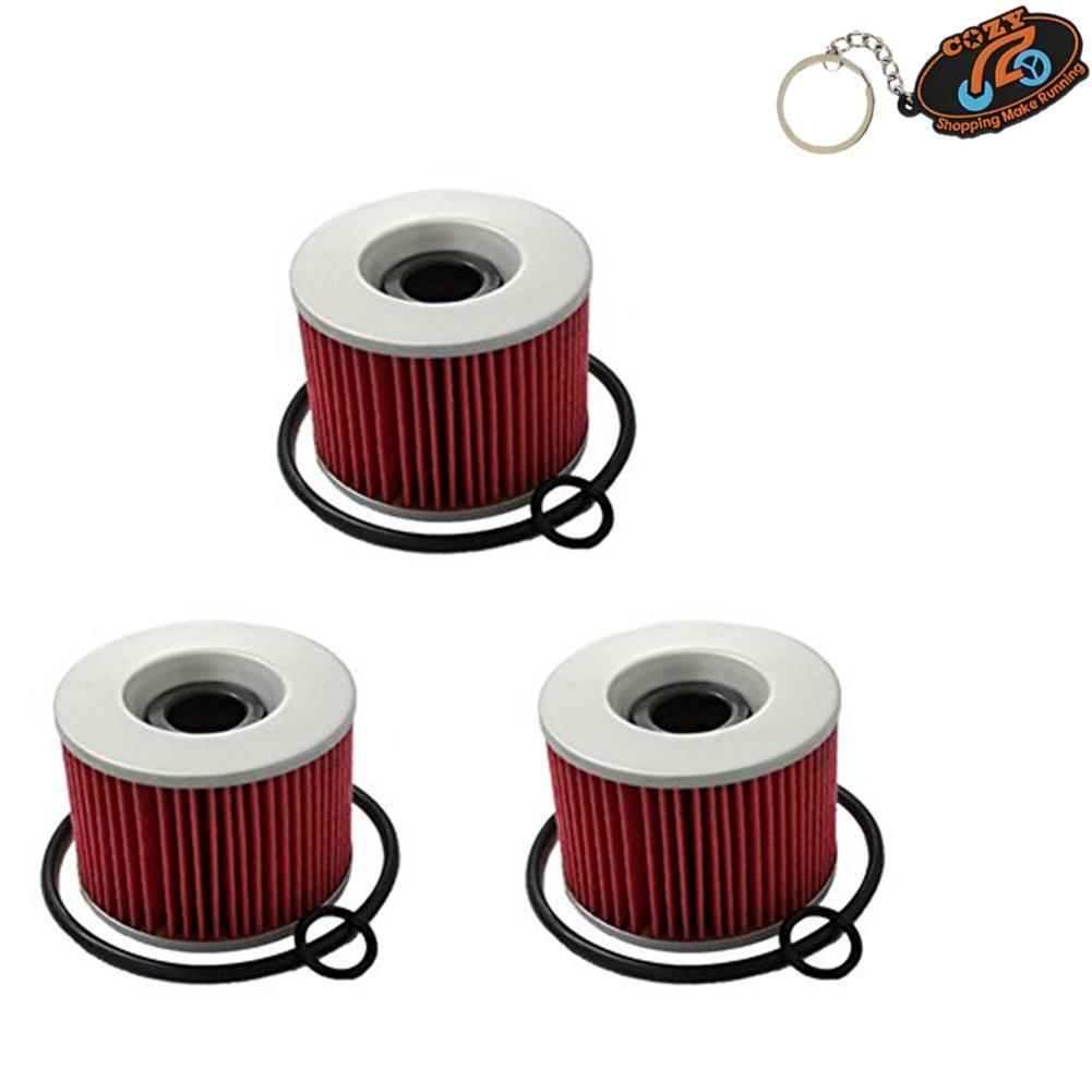 Cozy Pack of 3 x Oil Filter for HONDA CB350 CB400F CB500 CB550 CB650 CB750 CB900 CBX1000 GL1000 CBX1050 GL1100 GL1200 Replace KN-401 HF401