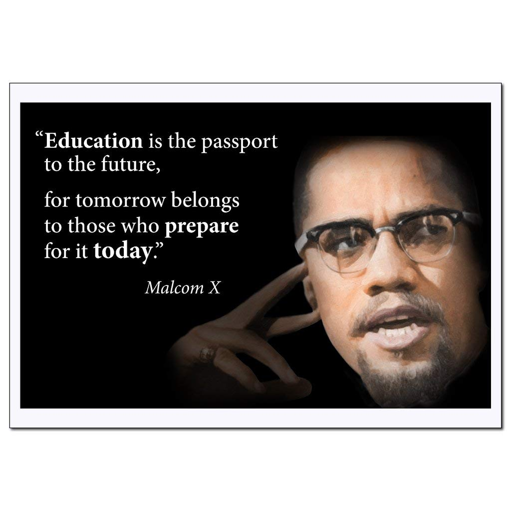 Amazon.com: Young N Refined Motivational Malcolm X Quote ...