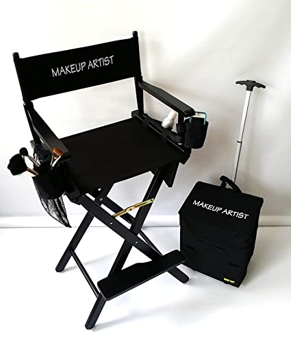 Etonnant MAKE UP ARTIST TALL DIRECTOR CHAIR HEAVY DUTY CONSTRUCTION High Quality  Product
