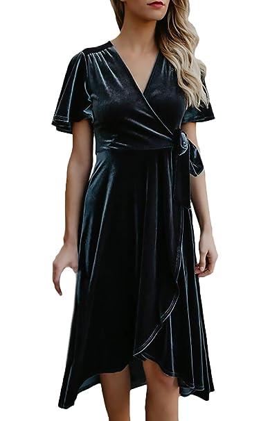 Vestidos Verano Mujer Elegantes Moda Verano Señoras Vestido De Escisión Plisado Classic Vestidos De Noche Casuales