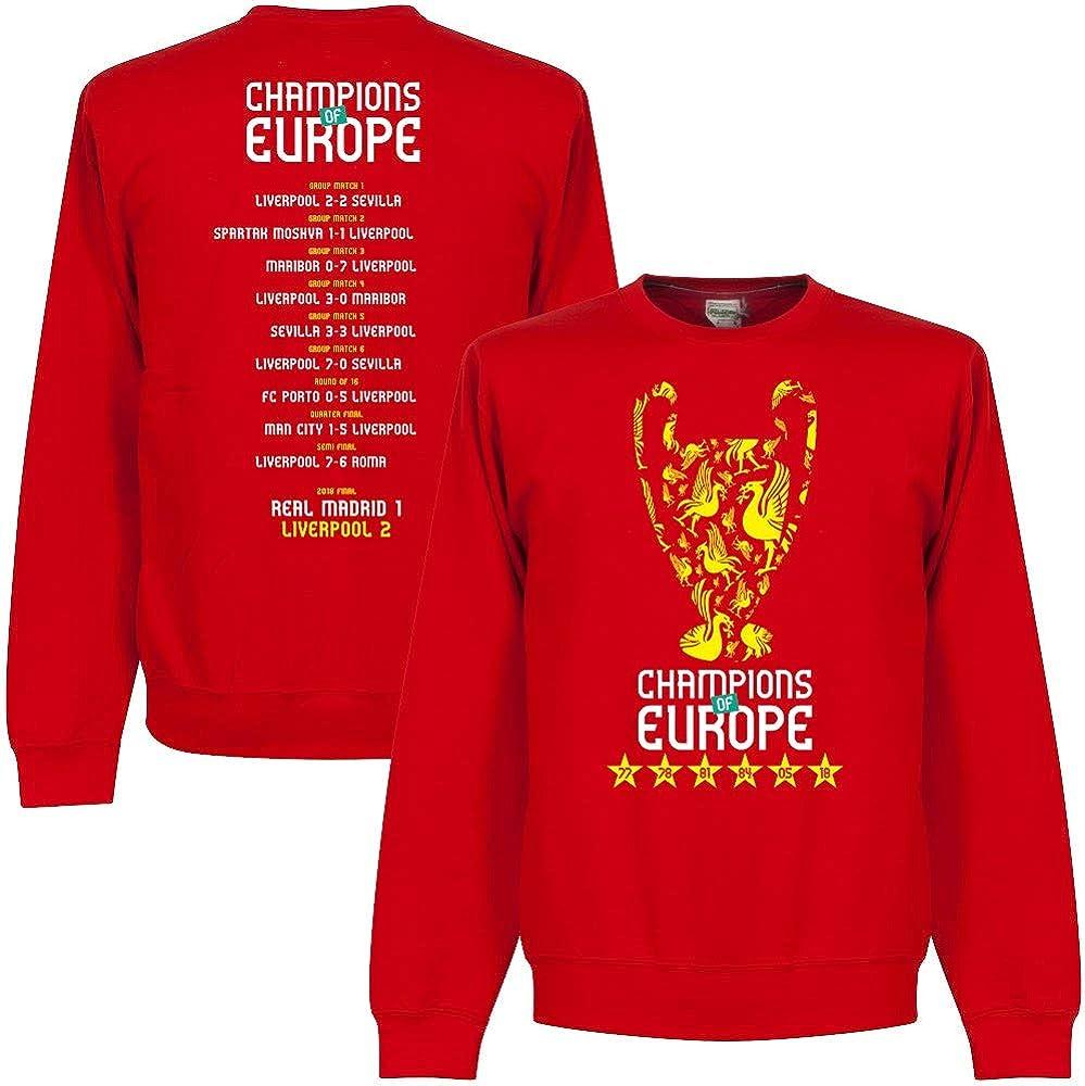 Liverpool Europameister Road to Victory Trophy Sweatshirt rot