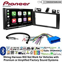 Volunteer Audio Pioneer AVH-W4400NEX Double Din Radio Install Kit with Wireless Apple CarPlay, Android Auto, Bluetooth Fits 2000-2005 Cadillac Deville, 1996-2004 Seville