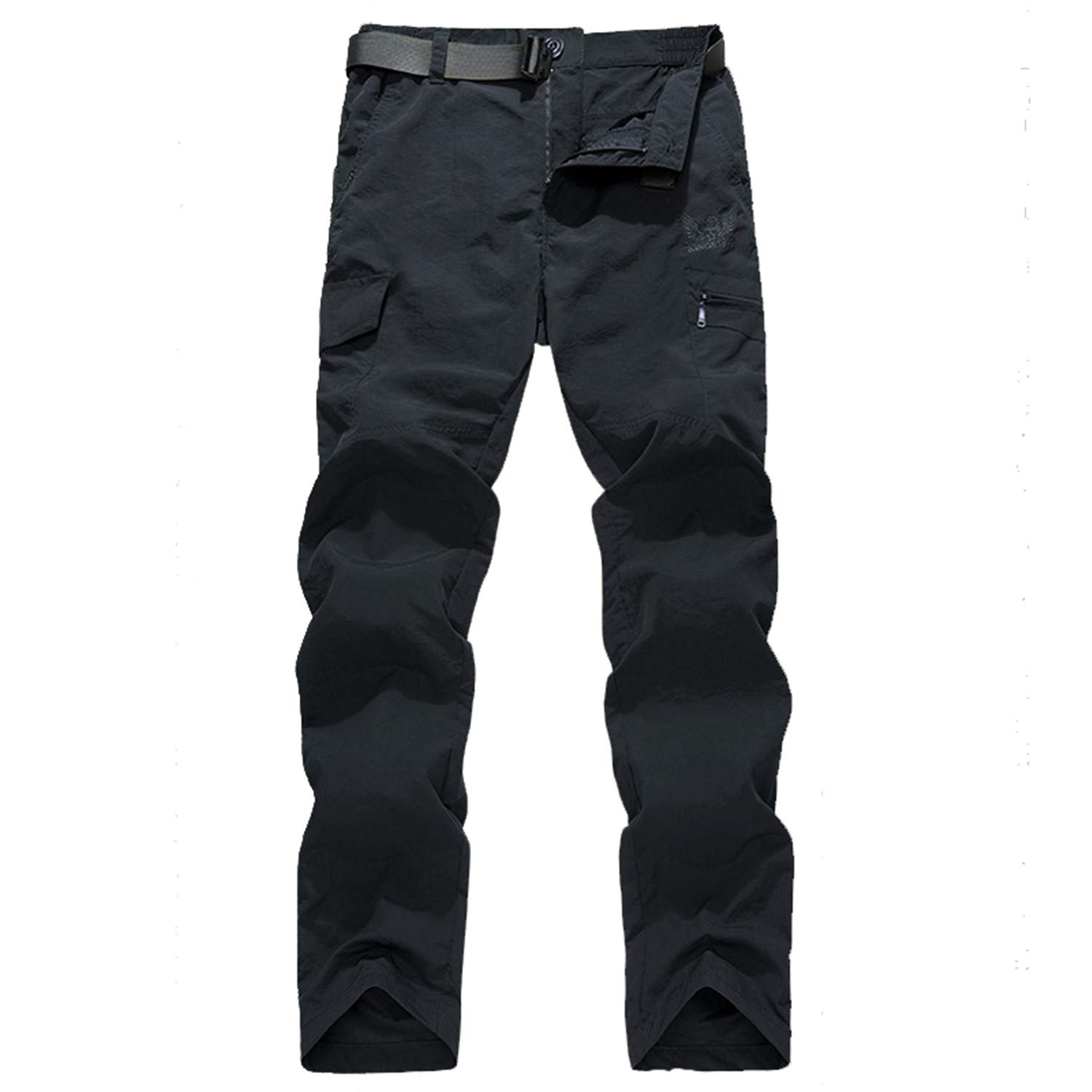 Mens Quick Dry Cargo Pants Army Military Elastic Breathable Trekking Waterproof Joggers