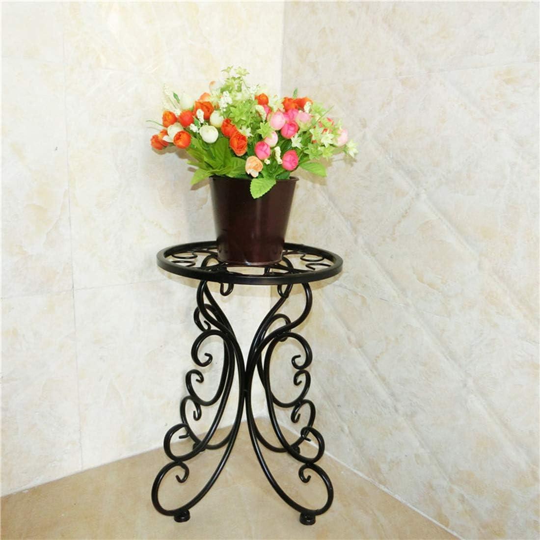 LuoKe /Étag/ère /à Fleurs Support /à Plantes monocouche en Fer forg/é Support de Fleurs au Sol Balcon Salon Pot de Fleur /étag/ère