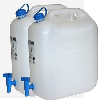 Fabulous 2x Wasserkanister ECO 20 Liter mit Hahn 2er Set Camping-Kanister XA51