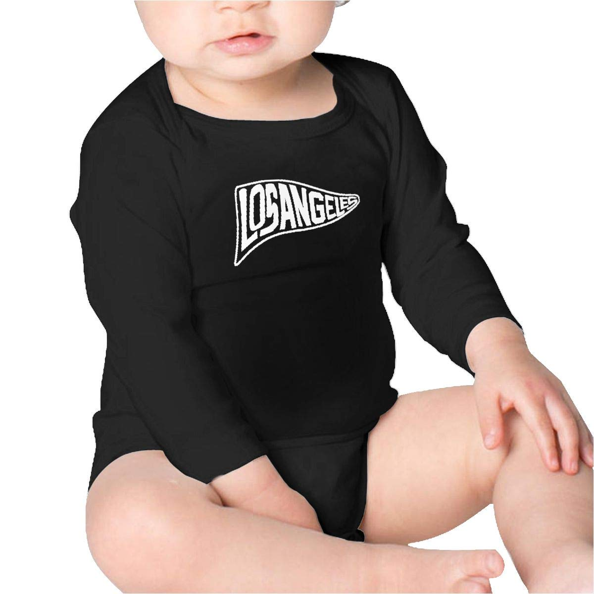 Pikaqiuleilei LA Los Angeles Pennant Flag Boys Cotton,Long Sleeve Baby Romper