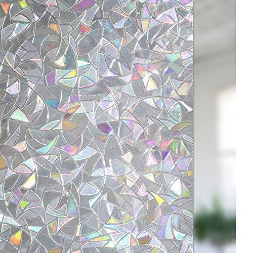 H.JWeDoo 3D Privacy Window Film Non-Adhesive Glass Stickers Frosted Window Static Cling Heat Control & Anti UV (3D, 35.5 x 78.7 inch) by H.JWeDoo