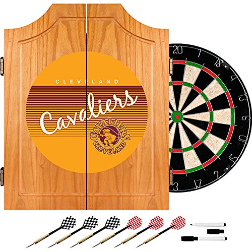 NBA Cleveland Cavaliers Wood Dart Cabinet, One Size, Brown