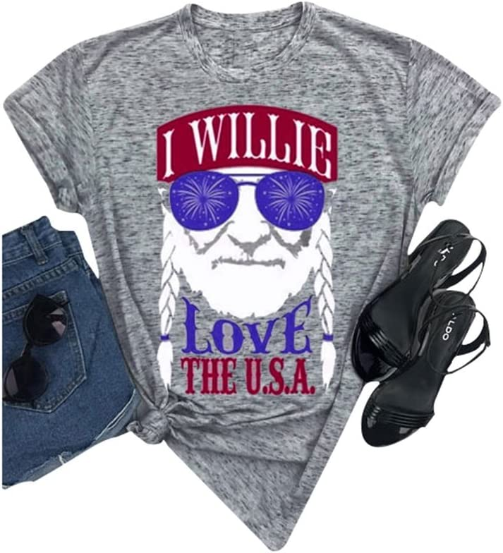 I Willie Love The USA Short Sleeves Shirt Baby Boy Toddler