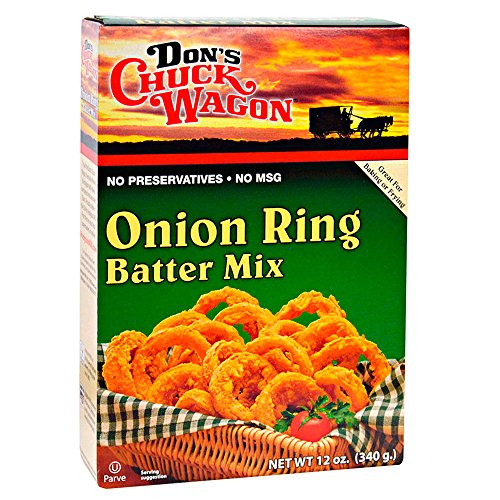 Don's Chuck Wagon Onion Ring Mix, 12 Ounce (Pack of 12) Crispy and Delicious Fried Onion Rings, Bloomin' Onion, and other Fried Vegetables, Chicken, Fish, Seafood and more (Best Chicken Batter For Deep Frying)