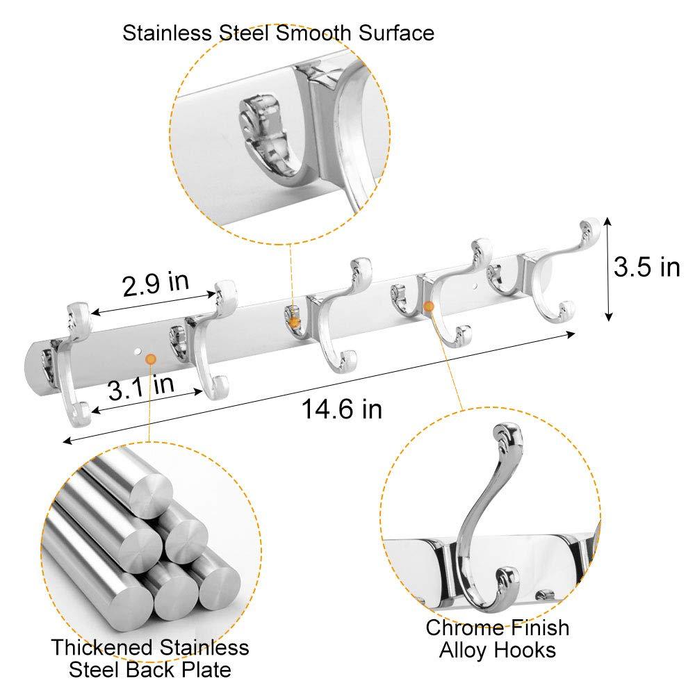Amazon.com: DS - Perchero de pared (5 ganchos), Paquete de 1 ...
