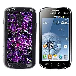 FECELL CITY // Duro Aluminio Pegatina PC Caso decorativo Funda Carcasa de Protección para Samsung Galaxy S Duos S7562 // Purple Tropic Green Spring