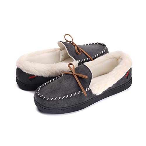 ea5f6b9564be3 Women House Slippers Memory Foam Breathable Anti Slip Ourdoor Indoor Womens  Slippers Plush Fleece Lining Moccasins Slip On Slippers