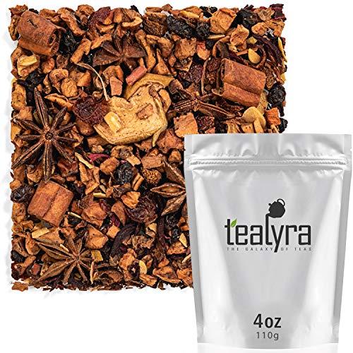 Tealyra - Warm Apple Cider - Hibiscus - Aniseed - Cinnamon - Almonds - Herbal Fruity Loose Leaf Tea - Caffeine Free - 112g ()