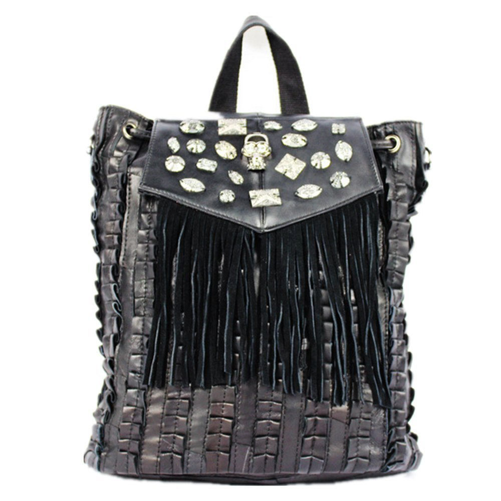 New stitching backpack Fashion handbags Travelling bags Shoulder bag Real leather lady bag
