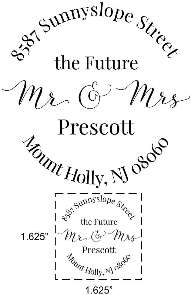 Mailing RSVP Envelopes Wedding Invitation Future Mr and Mrs Address Stamp Heart Modern Font Self-inking Engagement Announcement