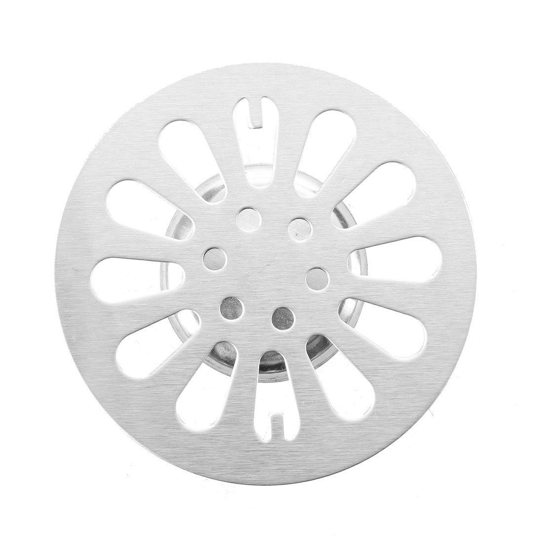 Acciaio inossidabile rotonda Piano di scarico coperchio del filtro per il bagno R SODIAL