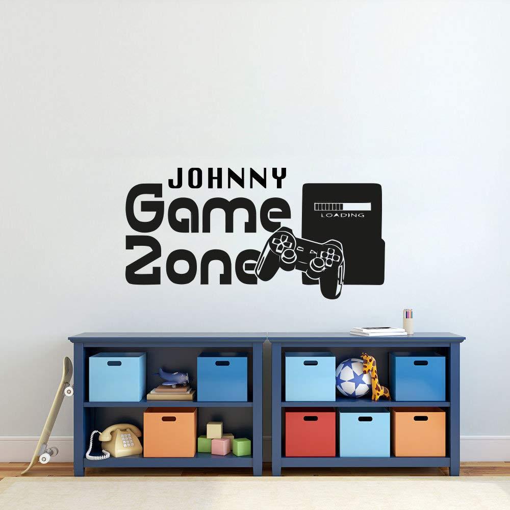 WWYJN Gamer Wall Sticker Customized Name Game Zone Wall Decal ...