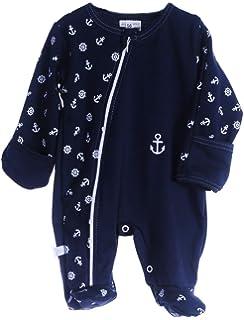 Strampler Baby Schlafanzug mit Rei/ßverschluss Overall 50-104 Anzug Rosa mit Anker
