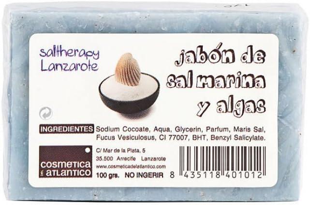 Aloe Plus Lanzarote. Sal y algas marinas hecho a mano jabón de cuidado Facial