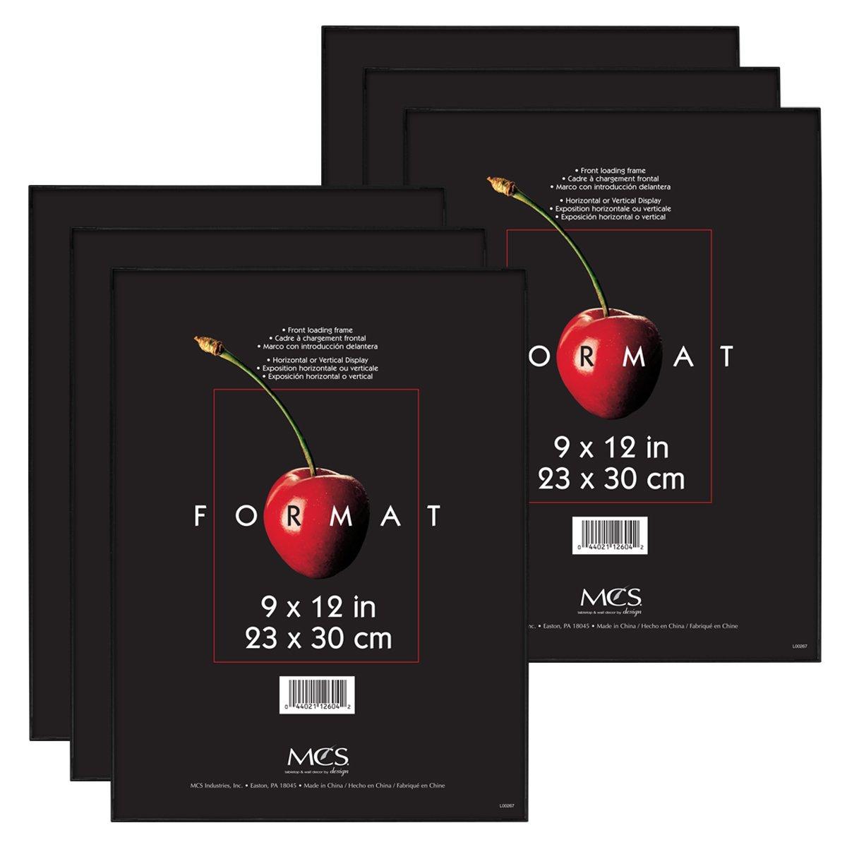 Amazon.com - MCS 9x12 Inch Format Frame 6-Pack, Black (65645) -