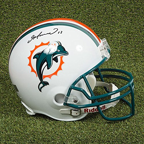 AJ Sports World Dan Marino Miami Dolphins Autographed Full Size Replica NFL Football Helmet