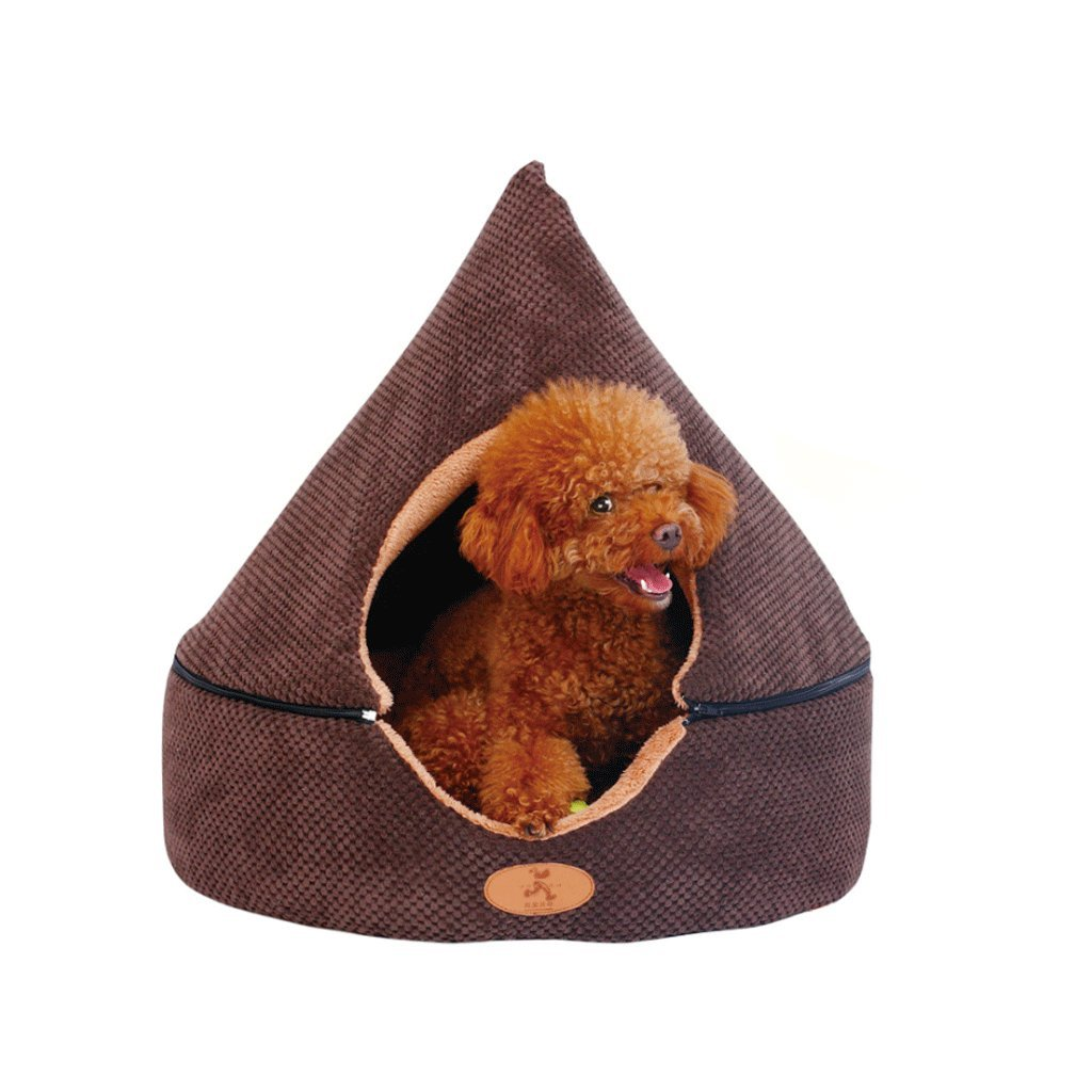 Black Medium Black Medium GXY Kennel Removable And Washable Yurt Dog House Teddy Small Dog Cat Cat Litter Closed Pet Dog Supplies Four Seasons Pet Waterloo (color   BLACK, Size   M)