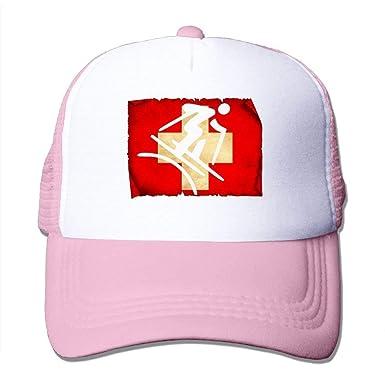 b815d325d8a Amazon.com  Freestyle Skiing Swiss Flag Unisex Handsome Mesh Hats ...