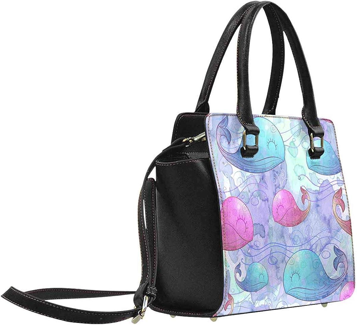 INTERESTPRINT a Pair of Peacocks Women Top Handle Satchel Handbags Tote Bag