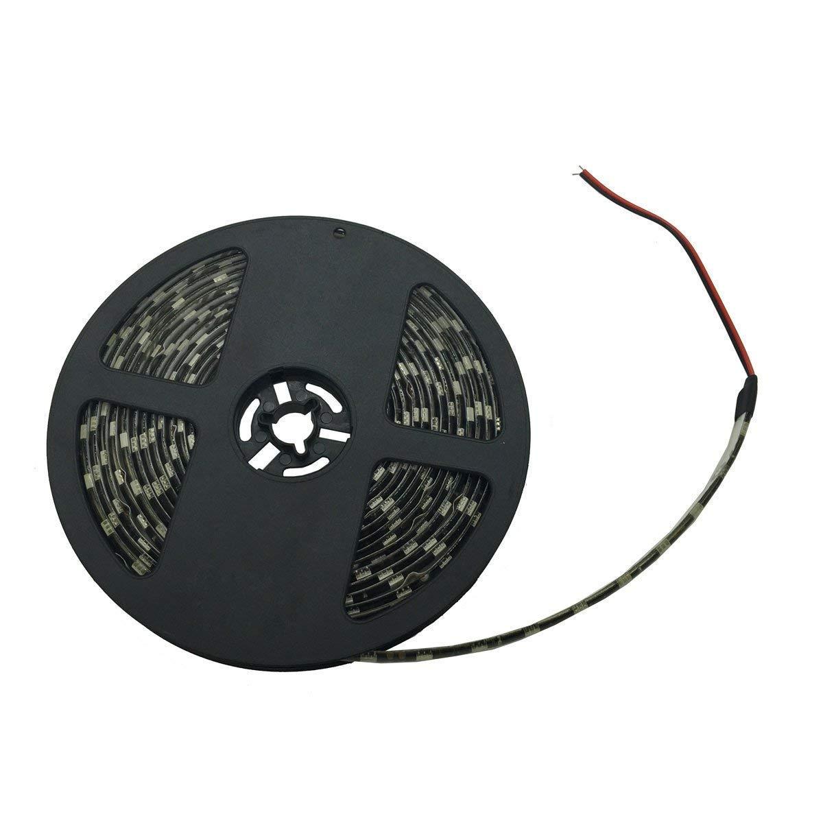 Yolu 1pcs 5 Meter Waterproof LED Strip Lights Kits 300SMD 5050 Black+Ice Blue