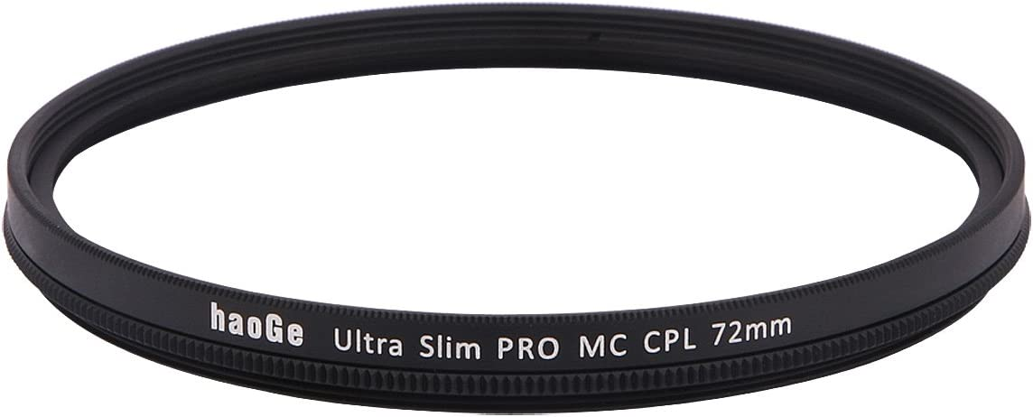 Haoge 58mm MC CPL Multicoated Circular Polarizer Polarizing Lens Filter for Canon 800D 700D 200D 1300D 60D with EF-S 18-55mm f4-5.6 is 55-250mm F4-5.6 is Lens