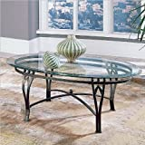 Steve Silver Madrid Glass Top Coffee Table